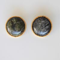 【ボタンセット】france vintage ボタン2個セット18㎜(black×green) 154