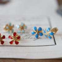 ちいさなお花のピアス(3color) France 1980s