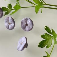 淡い色のお花ラインストーン付き1穴15mm フランスヴィンテージボタン