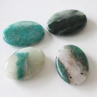 天然石ビーズ(アマゾナイト)楕円3.4㎝ フランス 直輸入