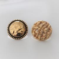 【ボタンセット】france vintage 金属ボタン2個セット  18㎜