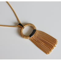 ORENA<オレナ>チェーンフリンジのネックレス フランス製_219