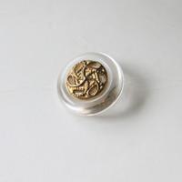 クリアフレーム金ボタン 1穴13mm フランスヴィンテージボタン