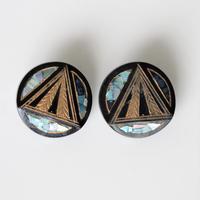 【ボタンセット】france vintage  モザイクシェルのボタン2個セット フランスボタン