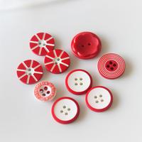 【ボタンセット】赤いボタン9個セット フランスヴィンテージ