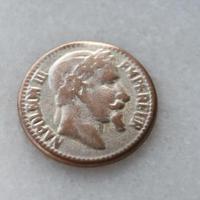 フランス現代ボタン ナポレオン金貨メタルボタン小 一つ穴15ミリ