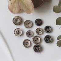 【ボタンセット】小さなメタルボタン11個 france vintage  フランスボタン