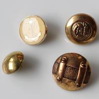 【ボタンセット】france vintage deadstock 4個セット フランスボタン367