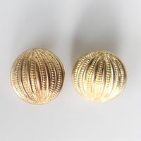 【ボタンセット】france vintage  丸ラインのゴールドボタン2個セット  18㎜