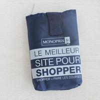 パリのスーパーMONOPRIX エコバッグ ネイビー
