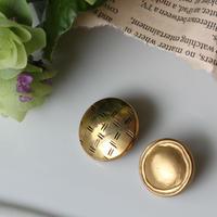 【ボタンセット】マット装飾縁のフランスボタン 2個set ヴィンテージボタン