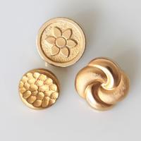 【ボタンセット】france vintage  マットゴールドボタン3個セット 130