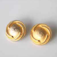 【ボタンセット】france vintage  マットゴールドボタン2個セット