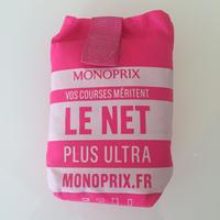パリのスーパーMONOPRIX エコバッグ ショッキングピンク