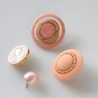 【ボタンセット】france vintage  ピンクのボタン4個セット 352