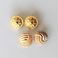 【ボタンセット】france vintage  ゴールドボタン4個セット 134