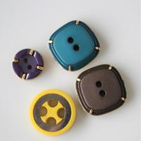 【ボタンセット】france vintage  プラボタン4個セット 344