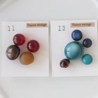 【ボタンセット】ドーム型ボタン(各種11.12) フランスヴィンテージ