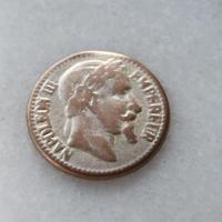フランス現代ボタン ナポレオン金貨メタルボタン中 一つ穴18ミリ