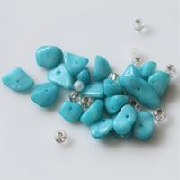 【ビーズセット】天然石ターコイズとクリアビーズ from France