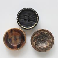 【ボタンセット】france vintage  個性柄ボタン3個セット 344