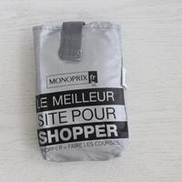 パリのスーパーMONOPRIX エコバッグ シルバー