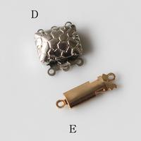 ネックレス留め具(各種)1連、3連用クラスプ フランスヴィンテージパーツ デッドストック