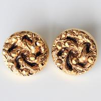 【ボタンセット】france vintage  ゴールドボタン2個セット 2.2㎝