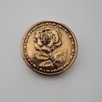 ゴールド薔薇ボタン 28㎜   フランス軍ボタン