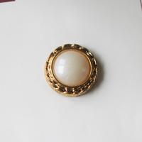 金縁プラ 1穴15mm フランスヴィンテージボタン