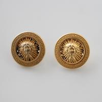 【ボタンセット】france vintage  女神モチーフのメタルボタン2個セット 18㎜