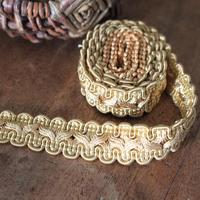 フランス 古いブレードリボン(ゴールド) 80㎝ 幅2cm