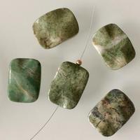 天然石ビーズ(PEACOK JASPER)長方形3㎝  フランス 直輸入