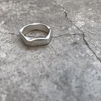 matte pentagon ring