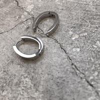 oval stainless hoop pierce