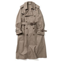 BIG TRENCH COAT  -GLEN CHECK-