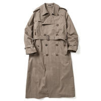 【HOMME】BIG TRENCH COAT  -GLEN CHECK-