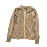 【COFFEE DYED】LONG SLEEVE BUTTON UP TEE