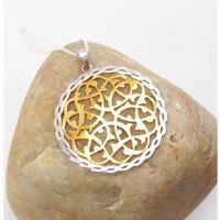 Rumi模様18kGPネックレス