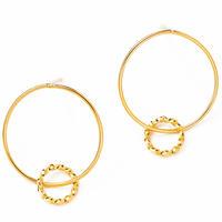 double hoop pierce