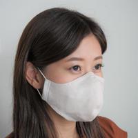 N³ナノファイバーマスク(Nキューブ):小さめサイズ[薄桃&ホワイト]