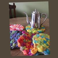 フラワーオブライフの羊毛パワーマット