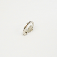 Sharp silver line earring (18mm)