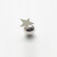 star pierce (small / silver)