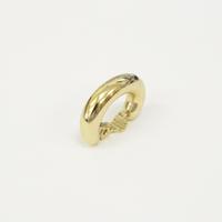 Voluminous gold line earring