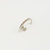 Sharp silver line earring (26mm)