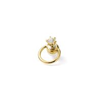 hoop catch pierce (cubic zirconia / 16mm hoop / gold)