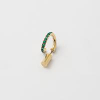 Emerald line pierce(8㎜ line/Vertical type/Swarovski elements)
