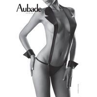 Aubade Boite a Desir Sexy Jacket オーバドゥ  【サスペンダー+Gストリング+カフスの3点セット】