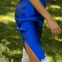 Marjolaine Royal/Perle マルジョレーヌ【シルク ロングペチコート/スカート】